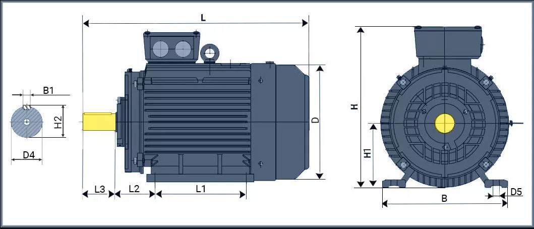 Креслення електродвигуна аір 160 квт