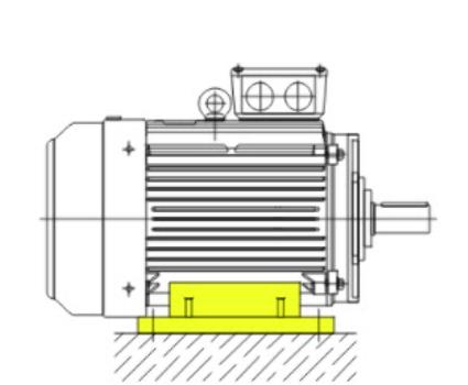 Монтажное исполнение электродвигатель АИР180М2 на лапах